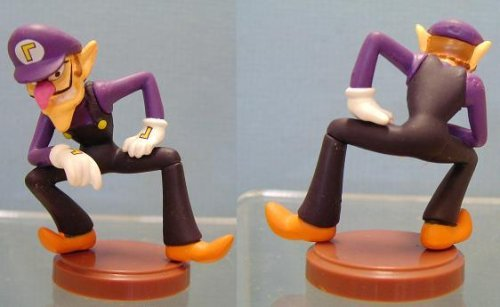 Furuta SUPER MARIO WII MINI FIGUREN WALUIGI (3.6 CM Mini Figure)