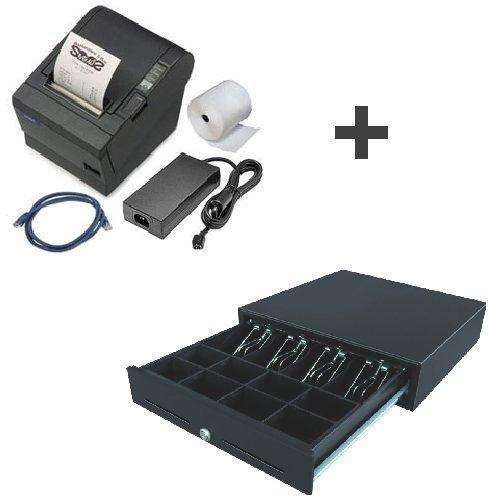 Epson Pos-drucker (Bundle: Bondrucker Epson TMT-88-IV USB (gebraucht) + Kassenlade CD-57 (neu))