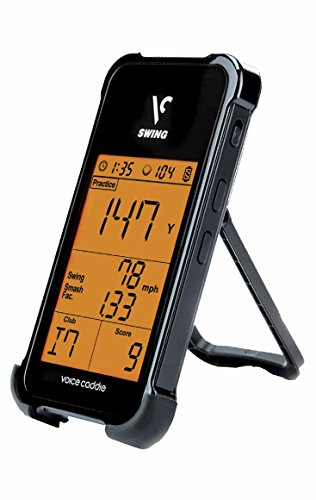 Voice Caddie SC100 Swing Golf Launch Monitor, tragbar, Schwarz Voice Unit