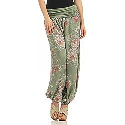 Zarmexx Señoras de los Bloomers de los Pantalones Pantalones Harén Pantalones de Verano por Toda Impresión One Size