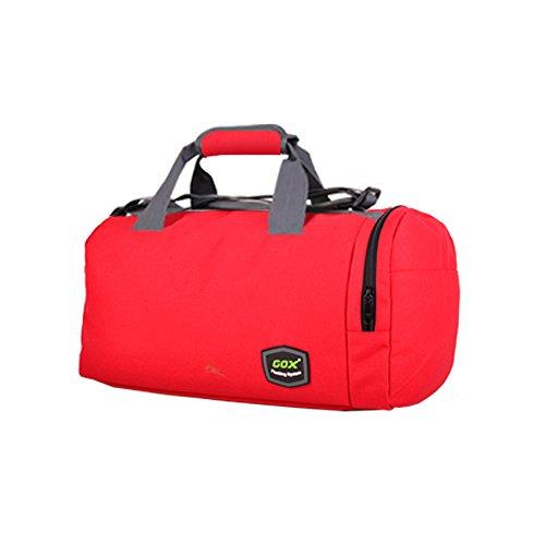 GOX Sport-Sporttasche mit Schuhbeutel Multifunktions-Umhängetasche Sport Reise Duffel Über Nacht ausdrücken Weekender Tasche Handgepäck Für Männer und Frauen Rot