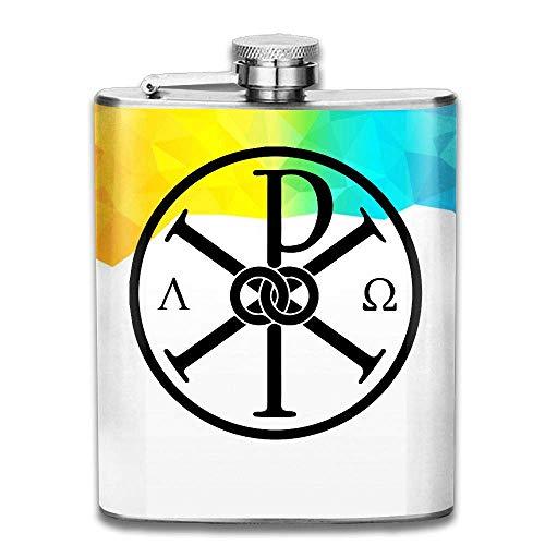 Katholizismus-Symbol-tragbarer Edelstahl-Flagon Brandy Wine Pot