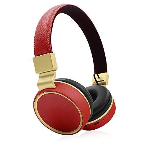HAJZF Cuffie Bluetooth Senza Fili Pieghevoli, Scheda Testa 10M Trasmissione Cuffie Sportive Bluetooth 5.0,E