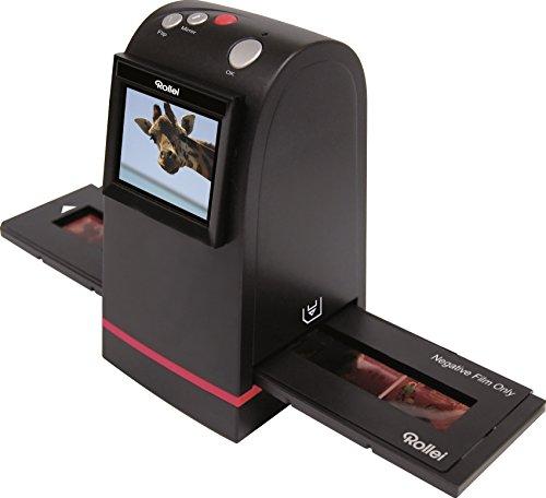 Rollei Dia Film Scanner DF-S 100 SE - mit 5 Megapixel und 2.4 Zoll Farb-TFT-LCD Display und umfangreichem Zubehör, für Speicherkarten bis zu 16 GB - Schwarz