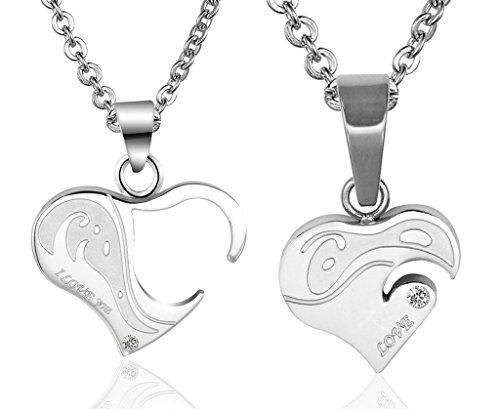 Amour en forme de cristal Coeur Amour Chaîne Bijoux Zircon Collier Pendentif
