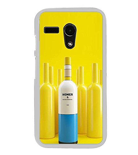 Fiobs Designer Back Case Cover for Motorola Moto G Turbo Edition :: Virat FanBox Moto G Turbo Virat Kohli (Homer Bottle Cork Yellow Botal Cool Alcohol)