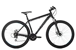 KS Cycling Unisex- Erwachsene Mountainbike Xceed Schwarz, 51 cm