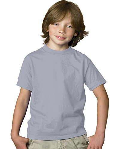 Jungen TAGLESS? ComfortSoft? Crewneck T-Shirt (S, leichter Stahl) - Stahl-crewneck