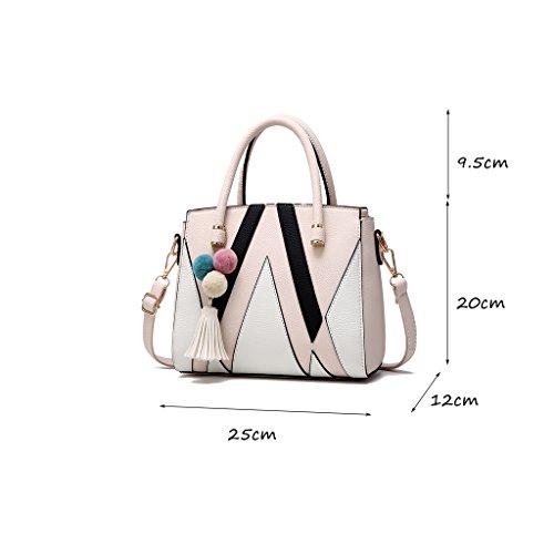 CLOTHES- Borsa della signora coreana di versione della borsetta selettiva della borsa del messaggero semplice della spalla Atmosfera borsa della signora matura ( Colore : Light pink ) Light pink