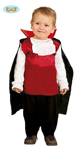 Guirca Kostüm Baby Dracula Vampir rot/weiß/schwarz, 0/12 Monate, 78009