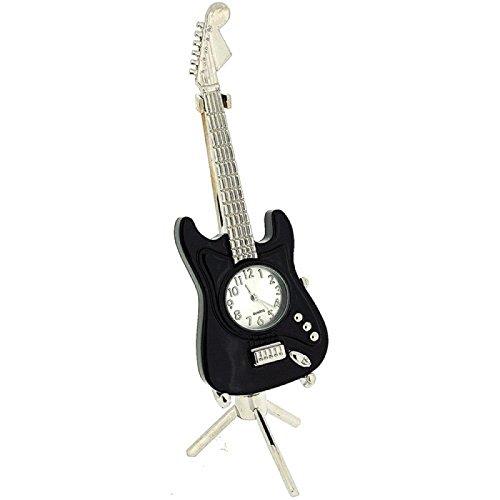 nouveaute-horloge-de-collection-miniature-ornementale-en-forme-de-guitare-noire-sur-pied