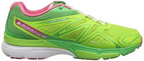 Salomon X-Scream 3d, Chaussures de Running Compétition Femme Grün (Firefly Green/Wasabi/Hot Pink)