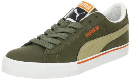 Puma Puma S Low City, baskets sportives homme - burnt olive-kelp-white