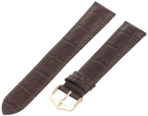 Hirsch Leder Uhren Armband Braun Duke Dornschließe 01028010-GL 20 mm