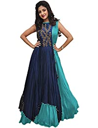 1c8ea615395c3 Rudra Zone Women s Banglory Gown With Jacket Gown for Party Wear Dress (multicolor)