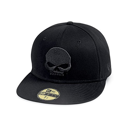 Harley-Davidson 59FIFTY Skull Baseball Cap 99400-14VM Herren Hat, schwarz, XL (Von Harley Davidson Baseball-cap)