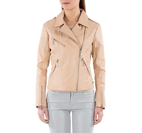 WITTCHEN Damen Lederjacke Damenjacke, Naturleder, Leder, Beige, Größe:L, 82-09-504-9-L