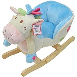 Benny, Pecora a dondolo della Pink Papaya, Cavallo a dondolo per bambini e bebé, speciale dondolo per bambini con suoni, altezza della testa ca. 50 cm, Altezza della seduta ca. 30 cm