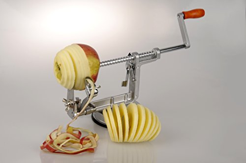 MaxxGoods Apfelschäler - Apfelschneider - Apfelentkerner - 3 in 1 Funktion in Premium Qualität 1 Monat Geldzurückgarantie