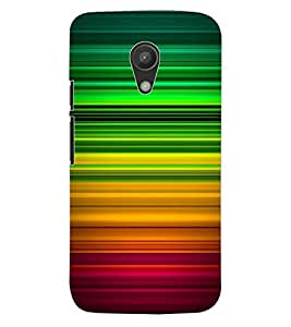 ColourCraft Colourful Bars Design Back Case Cover for MOTOROLA MOTO G2