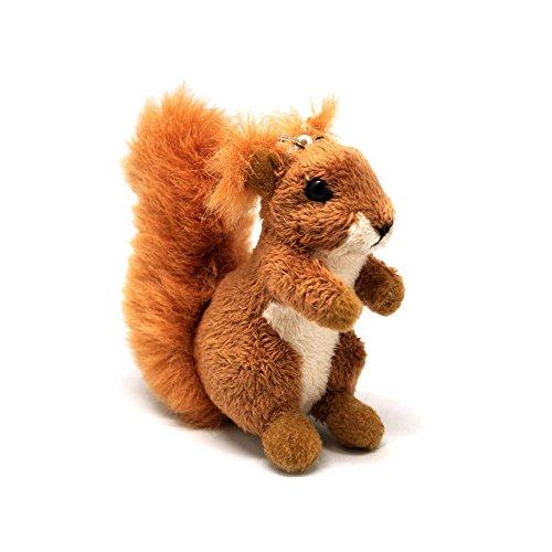 Eichhörnchen Plüsch Schlüsselanhänger Plüschtier Stofftier Kuscheltier 10 cm (Plüsch-eichhörnchen Große)