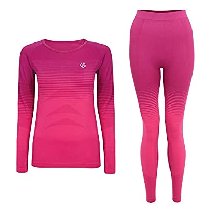 Dare 2b Women's In the Zone Perfomance Fast Wicking and Quick Drying Anti-bacterial Odour Controlling Base Layer Set With Seamless Technology and Ergonomic Body Map Fit 4