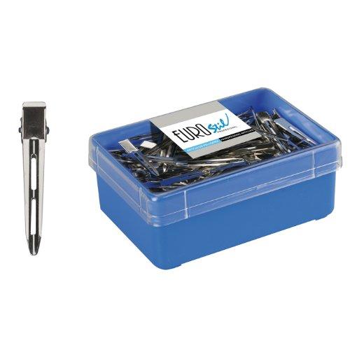 Eurostil Compartiment parenthèses clip compartiment clips métalliques de 120 pièces