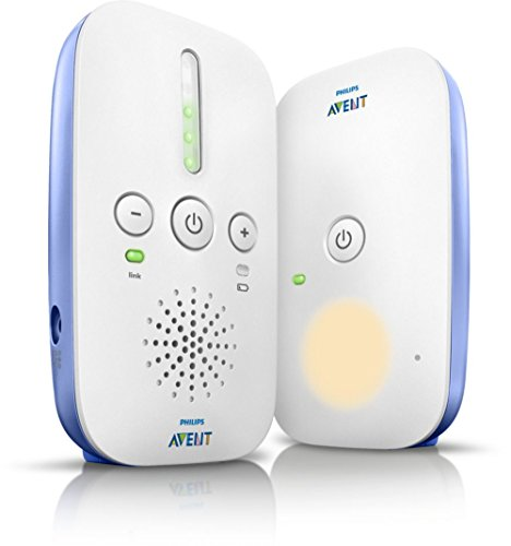 Philips Avent scd501/00 Baby Control - Baby monitor Sincro, DECT, 300 m, 50 m, Blu, colore: bianco, 24h, 10 - 40 °C)
