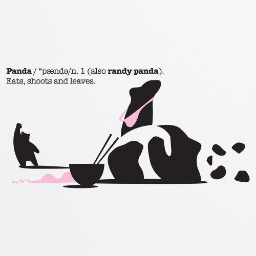 General Tee Randy Panda T-Shirt, Herren Wei
