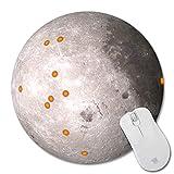 Förderung billig kühlen mond neue kleine runde mousepad rutschfeste gummi mauspad laptop maus matten 22x22cm4