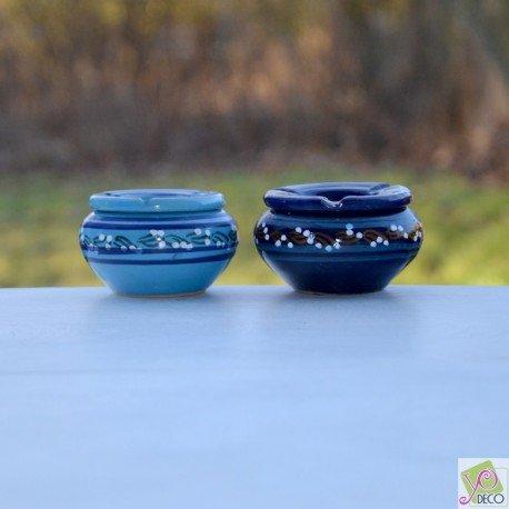 Yodeco Aschenbecher, Rauchschutz, klein, Blau und Türkis, 2 Stück -