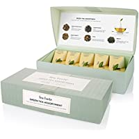 Tea Forte Green Tea Assortment - Té Verde Caja de Regalo 10 Filtros pirámide té by Tea Forté