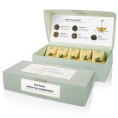 Idea Regalo - Dettagli su TEA Fortè GREEN TEA ASSORTMENT 10 filtri piramide tè verde 5 gusti assortiti