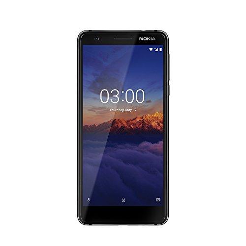 Nokia 3.1 Version 2018 Smartphone (13,2 cm (5,2 Zoll) HD Display, 13MP Weitwinkel Kamera, LTE, Android 8.0, Hochwertiges Aluminiumgehäuse, Dual Sim) schwarz/ chrome