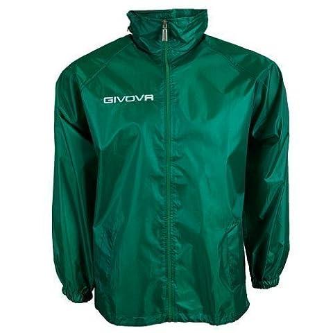 "Givova Fußball Regenjacke ""Basico"" Teamwear, grün, Gr. M"