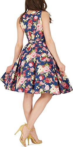 Black Butterfly 'Aura' Classic Divinity Kleid im 50er-Jahre-Stil (Nachtblau, EUR 52 – 5XL) - 3