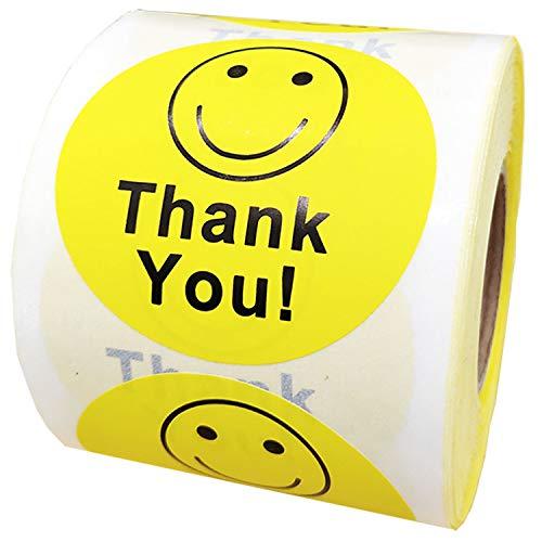 besttile Thank You Kreis Smile Smiley, 5,1cm rund Kreis Mailing Etiketten Aufkleber-1Rolle/500Etiketten pro Rolle