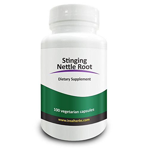 Real Herbs Stinging Nettle Root Extract 750mg (1 percent Silica) Promotes Prostate and Urinary Tract Health, Potent Antioxidant and Increases Testosterone 100 Vegetarian Capsules Test