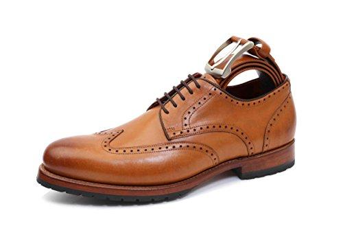 Gordon & Bros Levet 5199 A Herren Schnürhalbschuhe mit passendem Gürtel Braun (Torino tan), EU 41 -