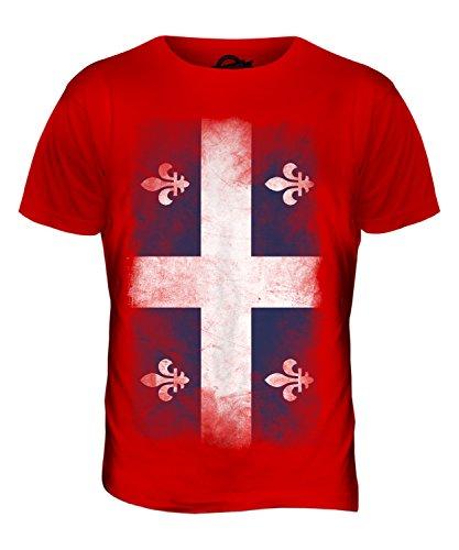CandyMix Québec Verblichen Flagge Herren T Shirt Rot