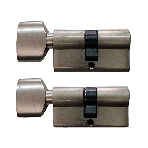 Preisvergleich Produktbild Knaufzylinder in 60 mm (30x30) Schließanlage Gleichschließend 2, 3 oder 4-er Set mit 5 Schlüssel pro Türschloss (2)