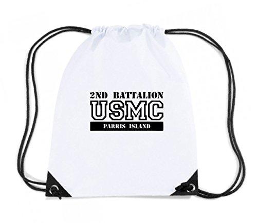 T-Shirtshock - Rucksack Budget Gymsac OLDENG00285 usmc 2nd battalion parris island, Größe Kapazität 11 Liter