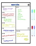 Magnetic White Board Fridge Calendar by Smart Panda - Useful Menu Planner, Memo Or Weekly Shopping List For Adults And Children - Easy To Write And Wipe With Strong Magnet - Notice Board Includes 4 Free Dry Erase Colour Markers - Weekly