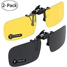 TERAISE Gafas De Sol Con Clip, 2 Pares/Día + Visión Nocturna Hombres/