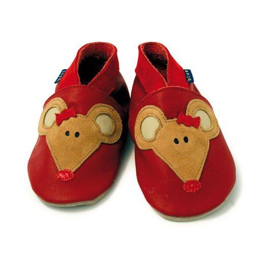 Inch Blue - 1517 XL - Chaussures Bébé Souples - Mouse - Rouge - T 22-23 cm - 18-24 mois