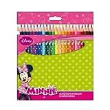DISNEY MINNIE Schachtel mit 24 Farbstiften