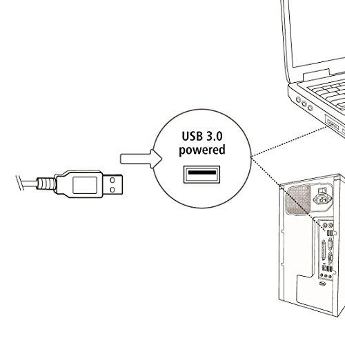 Hama PC Lautsprecher Sonic Mobil 183 (USB 3.0, 3,5 mm Klinke, 3 W, aktive Boxen für Computer, Laptop, Notebook, Smartphone, Tablet) schwarz/rot - 5