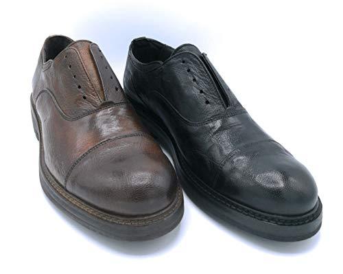 Exton 692 scarpa allacciata con elastico pelle cuoio nero - taglia scarpa 44 colore nero