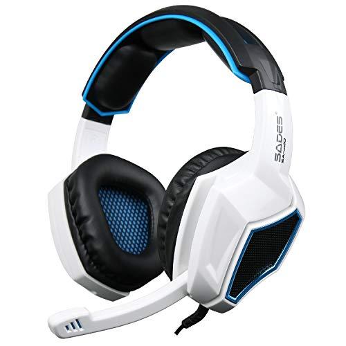 eadset für PS4 PC Xbox One, LED Licht Bass Stereo 3.5mm Professional Kopfhörer mit Mikrofon für Laptop Mac Handy Tablet NS ()