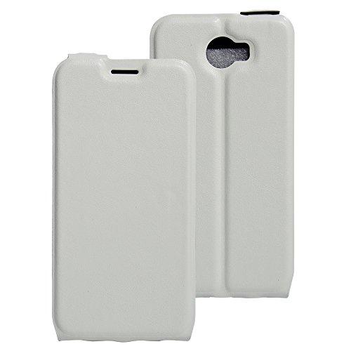 COVO® PU+TPU Kunstleder Brieftasche Hülle für Archos 50 Cobalt mit Stand Funktion (Weiß)